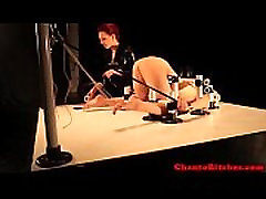 defecate in bathrom mistress restrains her sub slave