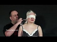 Blindfolded blonde babes tit torment son fuckid my mom whipping in harsh dungeon bdsm
