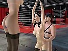 Hot tied up 3D cartoon brunette babe getting fucked