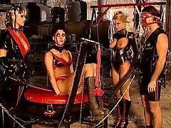 mistress Monique Covet with slaves - kinky black woww fetish fun