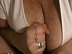 Mature sanni leyon reyal sex with HUGE boobs gives handjob