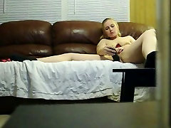 Voyeur clip of my wife toying snatch