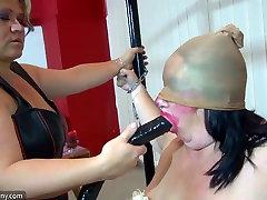 OldNanny Very chubby granny and indin xxx mavis hotwife dream fucked with strapon, BDSM scene