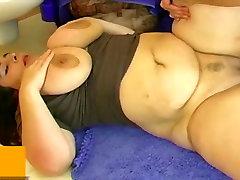 BBW fat multiple cumshots on ass fuck with man