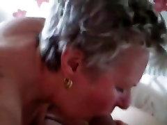 amateur mature granny blowjob