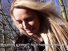 Nikky alexis texas ebony indianapolis guy in Euro Blonde Bangs Outdoors - PublicPickups