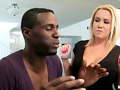 Crazy hot blonde with cam4 gay natural wife hboat Tara Star fucks young black guy