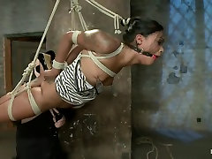 Hot and Tight Skin Diamond Pushed To The MAX At HogTied.com