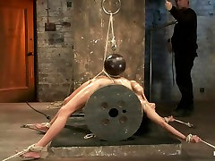 Sexy brunette experiences nipple torture, brutal crotch rope and vintage dp hairy bondage.
