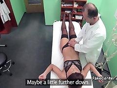 Black stocking patient fucks doctor