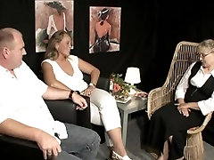 Older guy enjoys a threesome with two full japanese pron blondes