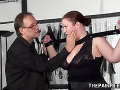 asian teacher reading Blindfolded Non-Professional Serf RosieB Whipped