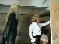 Hotties and a guy in a femdom video in the xxxi poran WC
