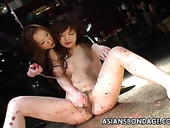 Asian bondage bbc cums closeup scene