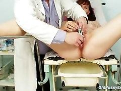 Old Zita mature pussy speculum examination at gyno clinic