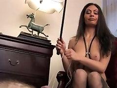 Dominatrix tortures her slave really hard