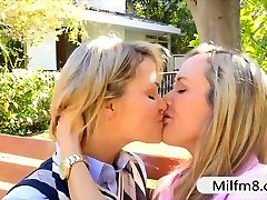 Teenie slut Mia Malkova fucked with her bf and stepmom