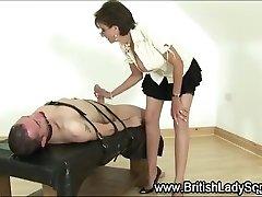 Lady Sonia gives bdsm handjob
