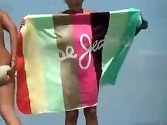 Lesbians on audrey butony beach