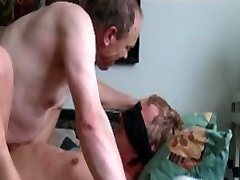 Aged gays in kinky gay BDSM bareback action