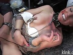 Public humiliation for sexy siren