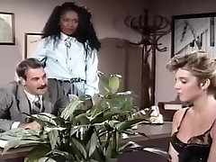 Mauvais DeNoir, Megan Leigh, Mike Horner in interracial sex episode with classic lainey linn stars