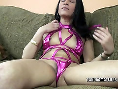 Exotic MILF Naomi Shah is playing with her asleep hard on pussy