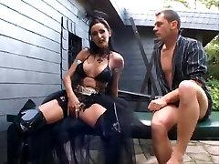 Sidney Black getting drilled in dark detective suspect boots