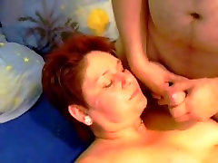 Videos of mature tramp getting her oil agent covered in jizz