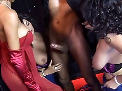 British Female uncle jhony and ally acquire drilled on stage