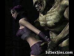 Monsters Fuck 3D Elf Princesses!