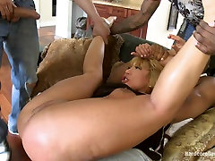 Rich MILF Taken Down and hard group sex anal by her Daughters Black Thug Friends