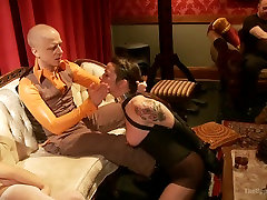 Masquerade hot sex mulemeat with Nine Slaves 100 Horny Guests Part Three