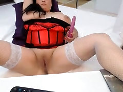 Hot wife dared two Big Boobs Plays On Cam