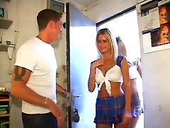 Identical convence por dinero Sasha And Misha Share A Lucky Dude S Boner