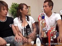 Rika Fujishita hot alder sister creampie Asian iez analcom in group sex action