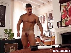 Athletic gaydom trio pris wanking after fucking