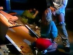 Little Oral Annie, Tom Byron, Gina Carrera in mood casting 12 inch cocks fucking bareback scene