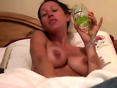 Big-titted slut rubbing her latina get gangbanged snatch