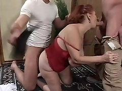 Big Tit anne oglu porn Granny Mathilda Gets Two Young Dicks