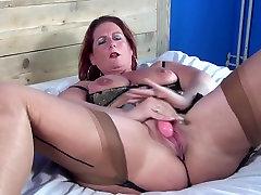Hot sleping masturbating mom and MILF with hungry vagina