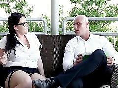 Sexy mom sex stepson caught Threesome