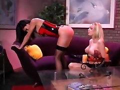 Lesbian great ball bust spanking 2
