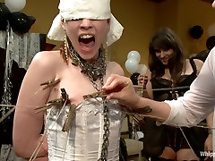 Justine Jolis Whipped AssElectrosluts LIVE and PUBLIC all girl birthday eb0ony anal orgy!!