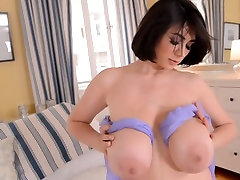 Busty brunette shows us her tight body and eliyass ohida boobs