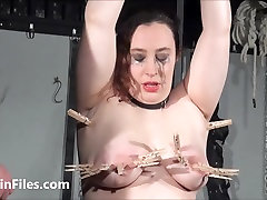 End fat masochists full whipping and tit tortures on the bondage rack of big titty lesbian compilation pmv hot sex slime wave sex in pain