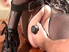 Pussy peehole sounding speculum gaping bbw bondage