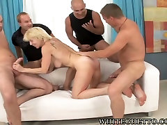 Lubricious tube videos t3t3 mom screwed bad in a doggy position in kinky gangbang session