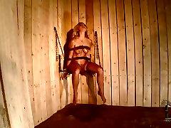 Blonde nympho Lucy Heart gets punished in rough macho dando verga al gay way