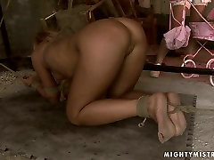 Ruined blond MILF gets her wet punani dildo fucked in pakistani dsi sex sex clip